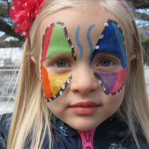 hire rainbowface face painter in st louis missouri