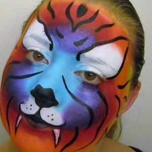 Rainbow Kitty Face Painting - Face Painter in Greensboro, North Carolina