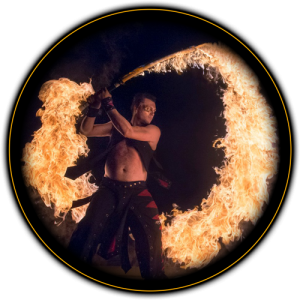 Razed in Flames - Fire Performer / Sideshow in Detroit, Michigan