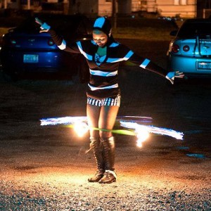Rhythmic Halo - Fire Dancer in St Louis, Missouri