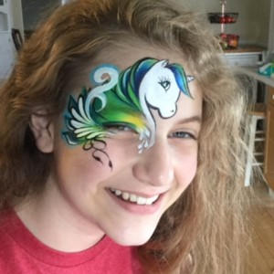 Rock face paint - Face Painter in Mayville, Wisconsin