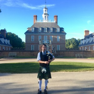 Ryan Leigh - Bagpiper in Williamsburg, Virginia