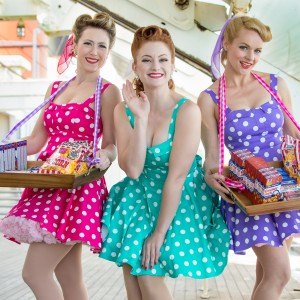 Candy Dollz - Vintage Candy & Cigarette Girls and Greeters - Corporate Entertainment in Los Angeles, California