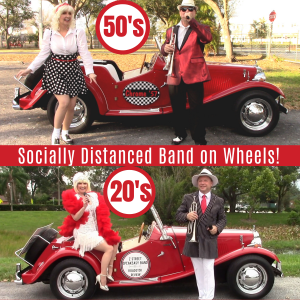 Show Band on Wheels, Theme band with antique car - Jazz Band / Street Performer in Orlando, Florida