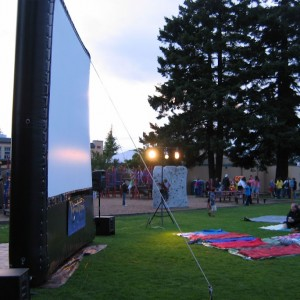 Sidewalk Cinema - Outdoor Movie Screens / 1940s Era Entertainment in Edmonds, Washington