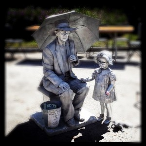 Silver Lady - Human Statue in Clearwater, Florida