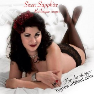 Siren Sapphire - Burlesque Entertainment / Rock & Roll Singer in Bay Area, California