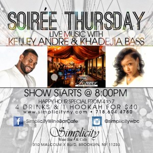Soiree Thursdays - R&B Vocalist in Brooklyn, New York