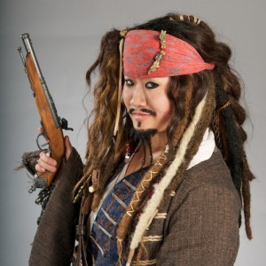 Sparrow Style - Capt. Jack of Racine - Impersonator in Madison, Wisconsin
