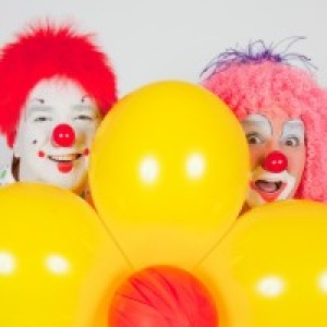 Squiggles and Smaxy the Clowns