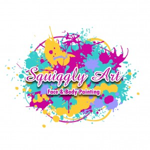 Squiggly Art Face Painting - Face Painter / Outdoor Party Entertainment in Buffalo, New York