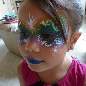 Starburst Face Painting - Face Painter / Outdoor Party Entertainment in Parker, Colorado