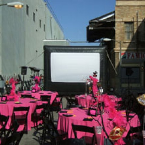 hire starlight theaters outdoor movie rentals party