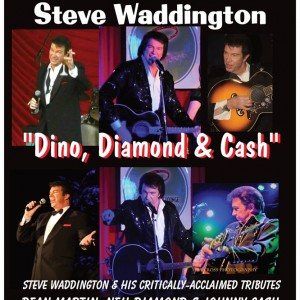 "Steve Waddington ""Dino, Diamond, & Cash"" and more! - Tribute Artist / Rat Pack Tribute Show in Los Angeles, California"