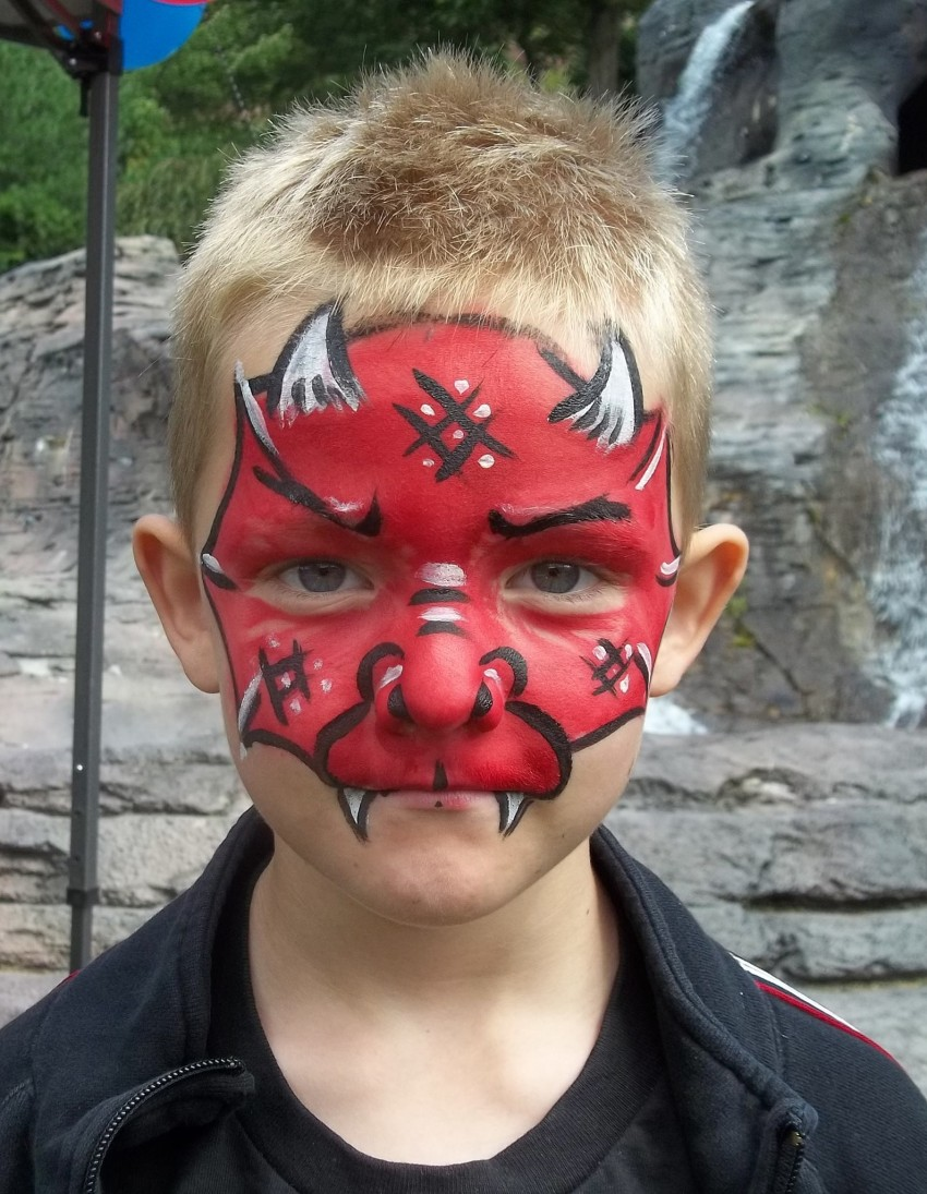 Uncategorized Devil Face Painting hire sunny day face painting painter in wilkes barre little devil paint