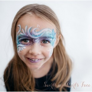Swirls and Curls Face Painting - Face Painter in Loveland, Colorado
