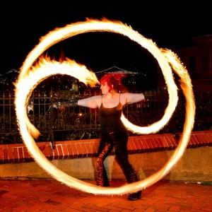 Temple of Poi fire Dancers