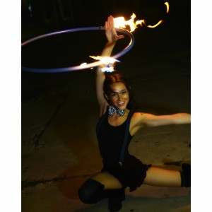 Tessa Indi-glow-flow - Fire Dancer / Street Performer in San Marcos, Texas