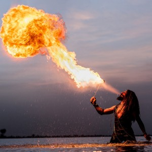 The Arabian MK - Fire Performer / Stilt Walker in Coeur D Alene, Idaho