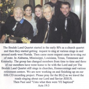 The Beulah Land Quartet - Gospel Music Group in Pensacola, Florida
