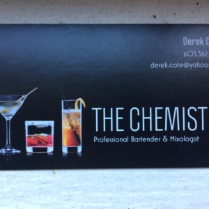 The Chemist - Bartender in Danville, New Hampshire