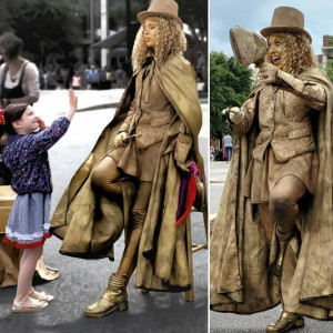 The Granite Goddess - Human Statue / Actress in Asheville, North Carolina