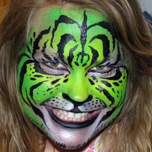 The Painted Otter Face and Body Art
