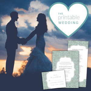 The Printable Wedding - Wedding Invitations in Burlingame, California