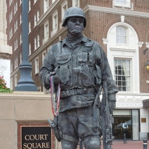 The Stone Pirate - Human Statue in Greenville, South Carolina