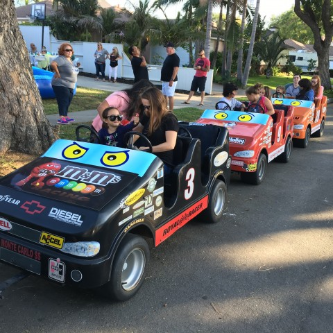 Race Car Trackless Train Rental