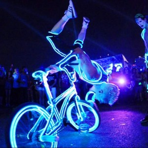 Tron Bike BMX trickster - Circus Entertainment in Las Vegas, Nevada