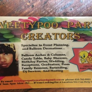 TweetyPoo Party Creators - Event Planner / Wedding Planner in Baltimore, Maryland