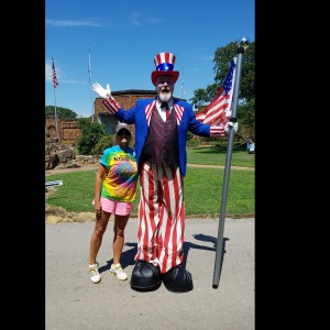 Uncle Sam - Stilt Walker in Oklahoma City, Oklahoma