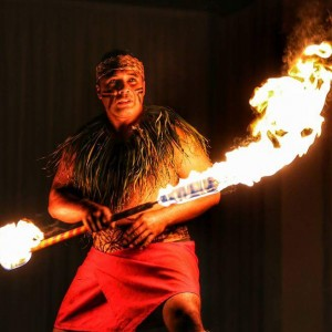 Vaimatina Polynesian Fireknife Dancing - Fire Dancer in Laie, Hawaii