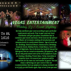 Vegas Entertainment - Wedding DJ in Scottsboro, Alabama
