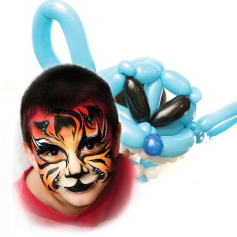 hire wagner events face painting balloon twisting