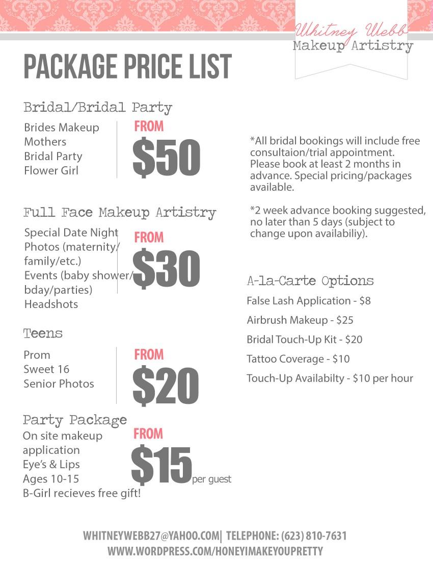 Makeup Pricing Saubhaya Makeup