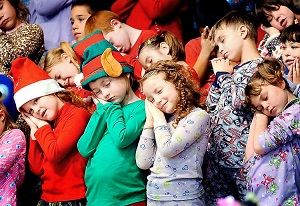 Children At School Christmas Concert