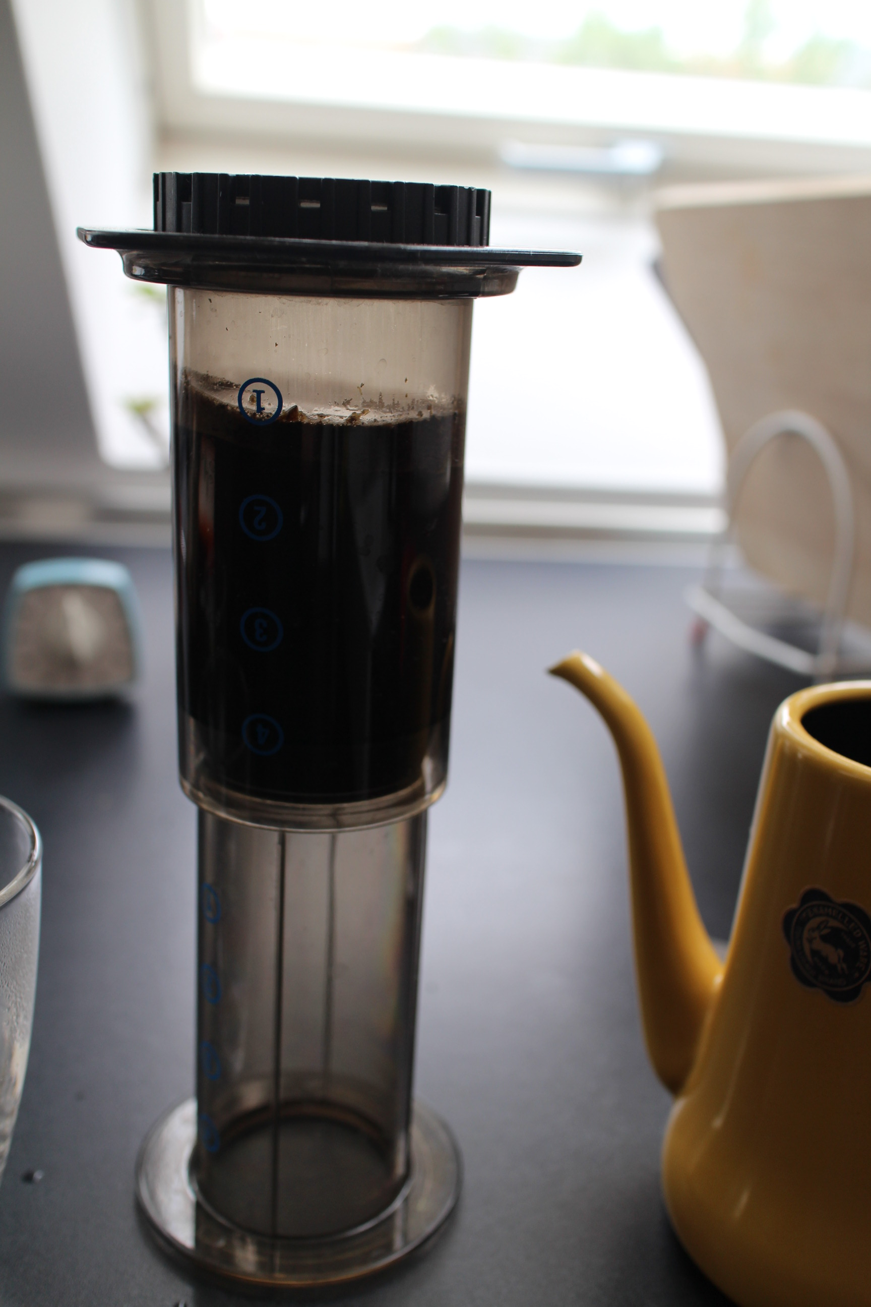 Aeropress with water