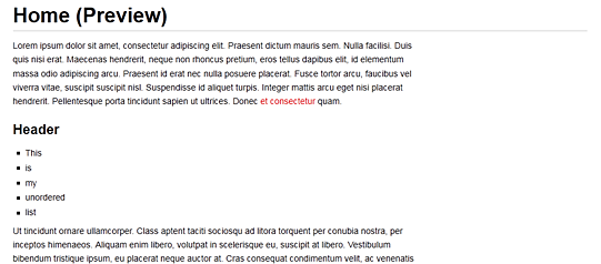 wiki preview page