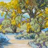"""Arbuckle Cottonwoods"" by Brad Price  live painting demonstration 16 x 20"