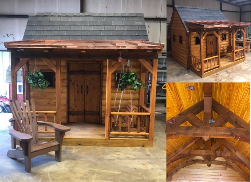 100 - Little Log Cabin Playhouse