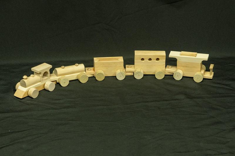 627 - Wooden Train Set