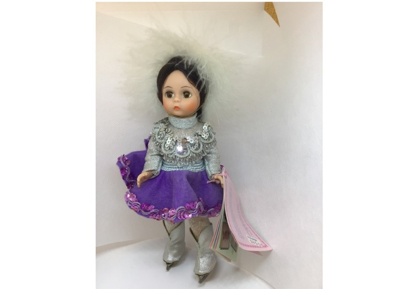 705 -  Ice Skater with purple skirt,  Madam Alexander Collector Doll