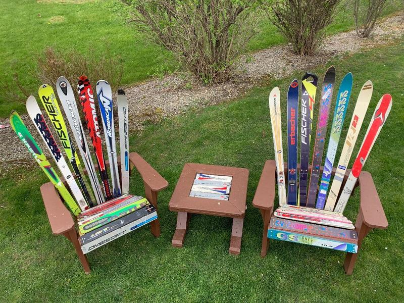 ADIRONDACK CHAIRS WITH TABLE SET