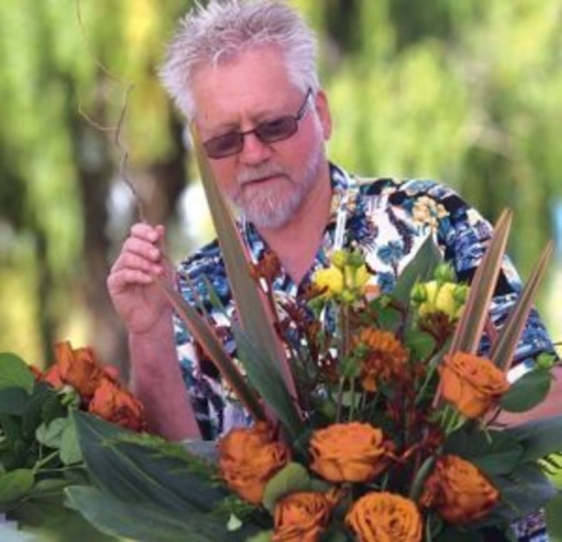 Group Floral Design Session with Watsonville Council Member Lowell Hurst