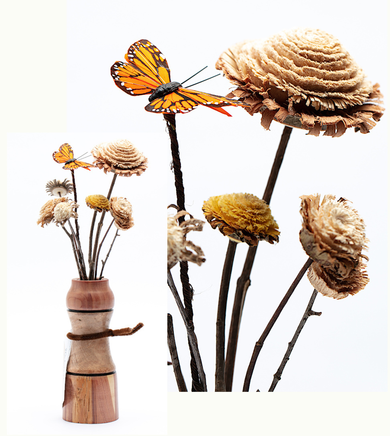 Wood Flower Arrangement