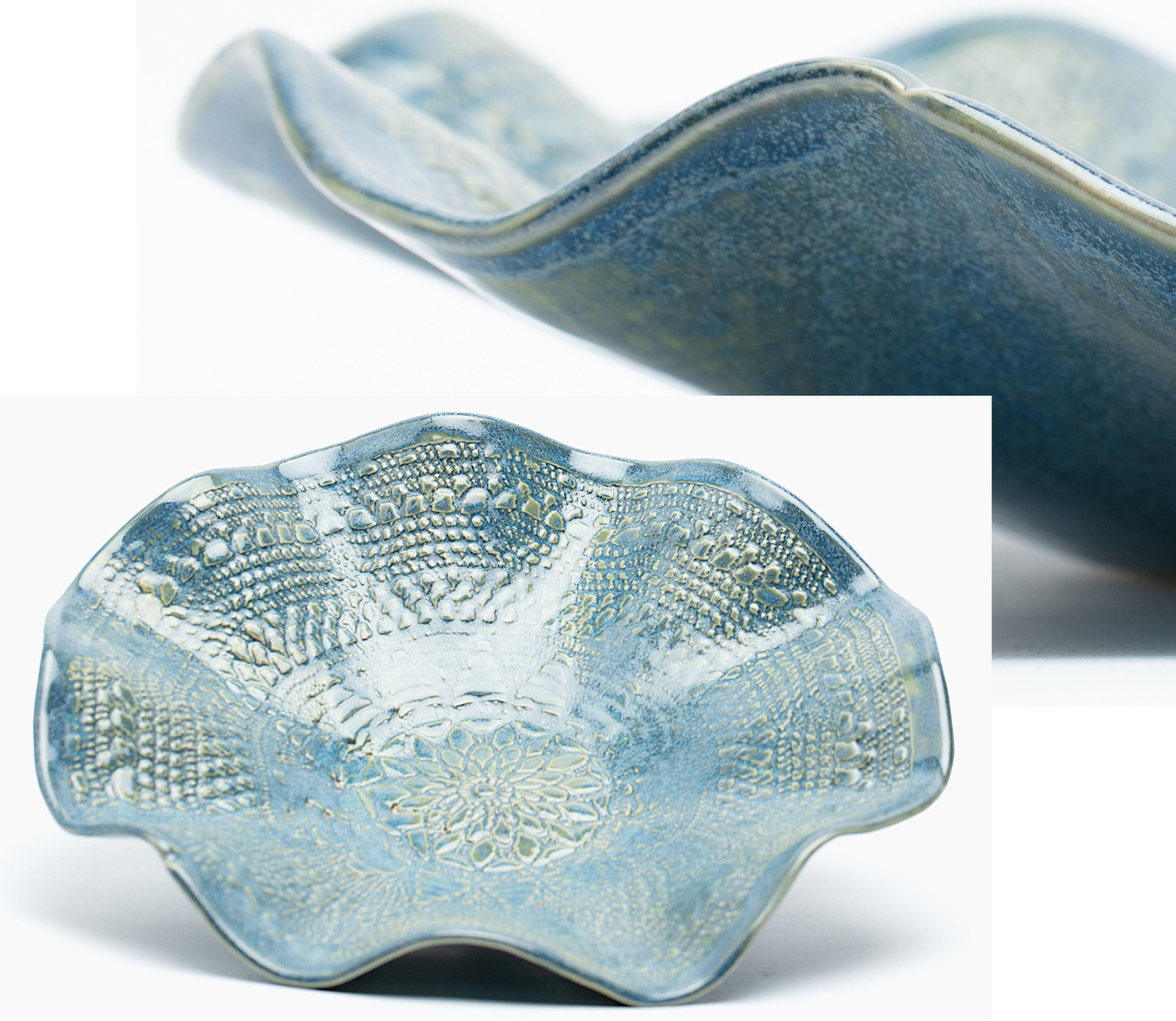 Scalloped Pottery Bowl
