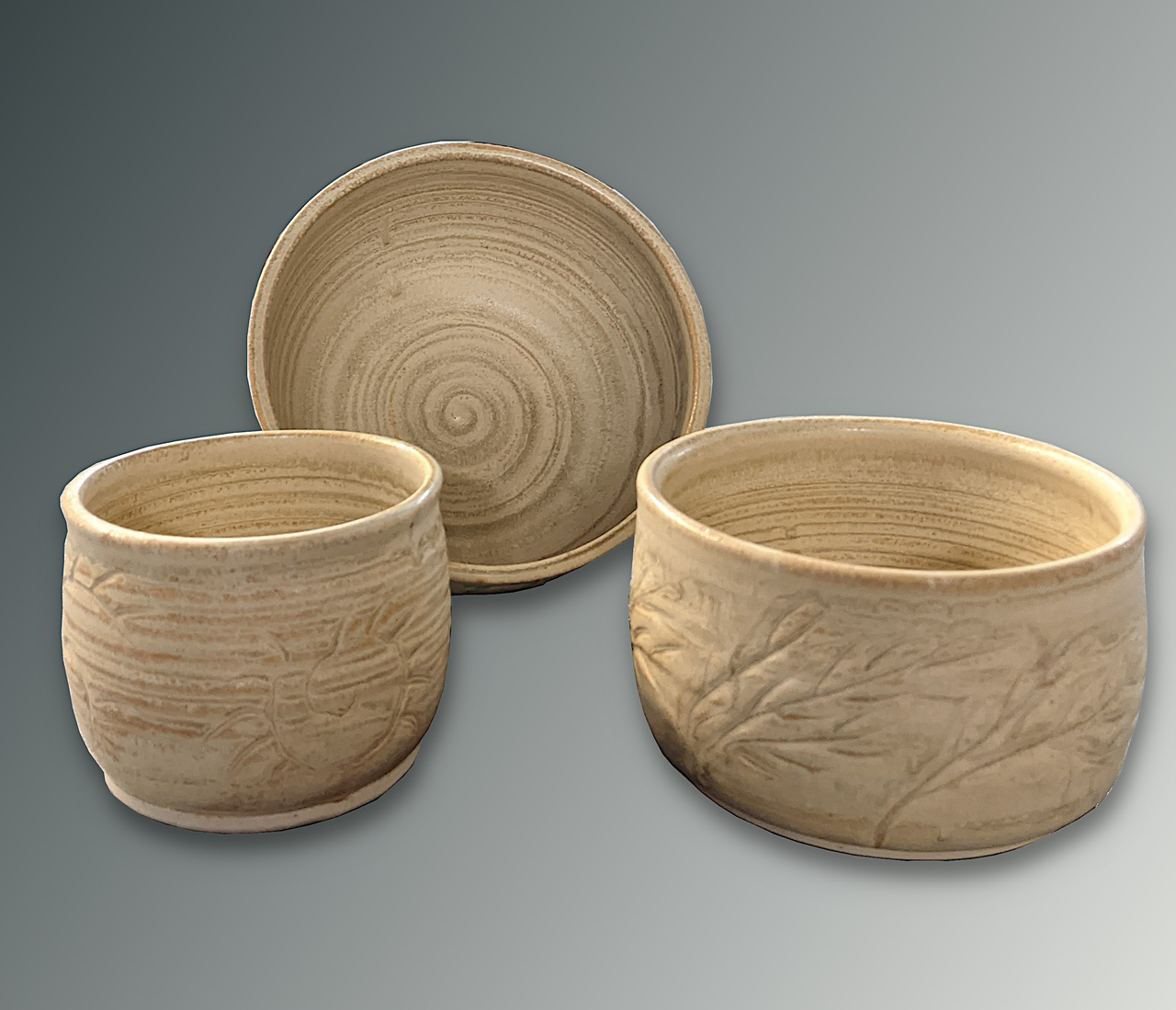 Three Piece Nesting Bowls by Laura Clemons
