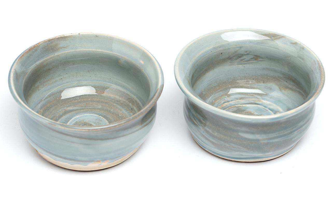 Blue Marbled Bowls 2 Piece Set